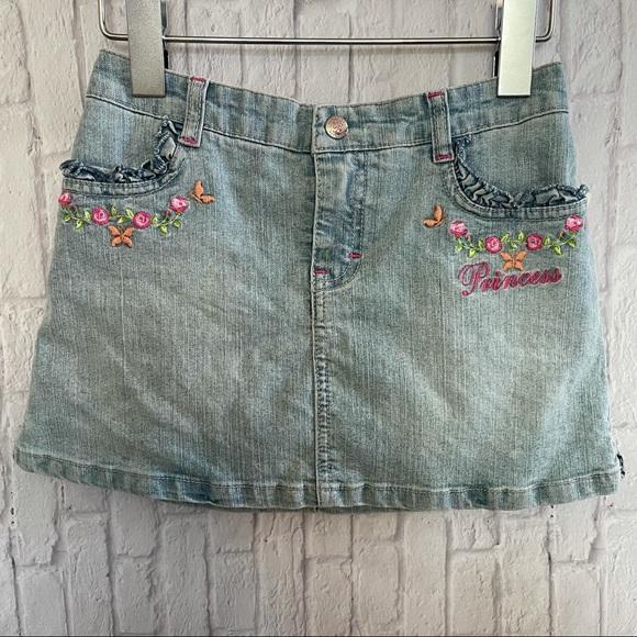 Disney Jean Skirt Shorts Princess Girls Size 6X
